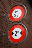 Regulatory road signs Stock Photo