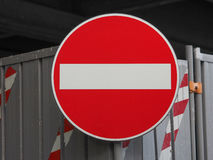 No entry sign. Regulatory signs, no entry for vehicular traffic sign Stock Photos