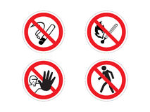 Regulatory signs Stock Images