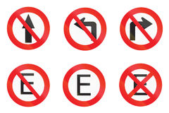 Regulatory signs used in Uruguay Stock Photography