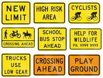 Regulatory Signs In Victoria - Australia Stock Images