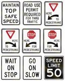 Regulatory United States MUTCD road signs Royalty Free Stock Image