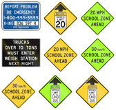 Regulatory United States MUTCD road signs Stock Photography