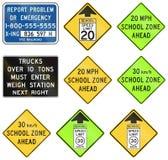 Regulatory United States MUTCD road signs. Collection of Regulatory United States MUTCD road signs Stock Photography