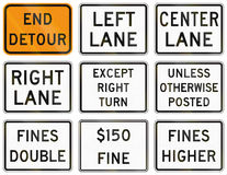 Regulatory United States MUTCD road signs Royalty Free Stock Photography