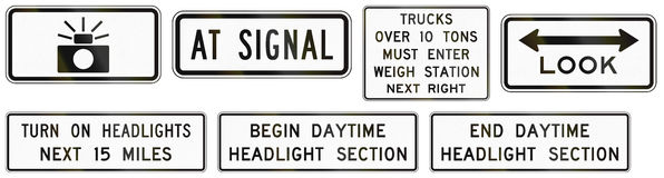 Regulatory United States MUTCD road signs Royalty Free Stock Image