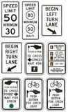 Regulatory United States MUTCD road signs Royalty Free Stock Photos