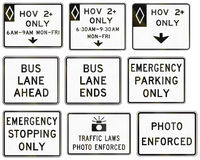 Regulatory United States MUTCD road signs Stock Images