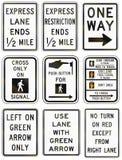 Regulatory United States MUTCD road signs Royalty Free Stock Photography