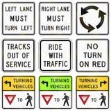 Regulatory United States MUTCD road signs Royalty Free Stock Photo
