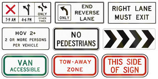 Regulatory United States MUTCD road signs Stock Photo