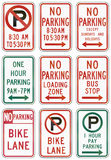 Regulatory United States MUTCD road signs Royalty Free Stock Images