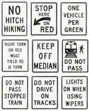 Regulatory United States MUTCD road signs Stock Photos