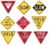 Regulatory United States MUTCD road signs Stock Photography