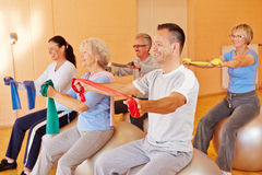Reha sports for seniors in fitness Royalty Free Stock Photography