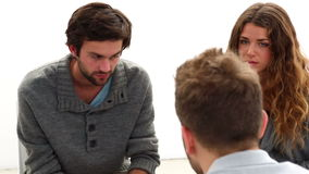 Rehab group sitting in a circle Royalty Free Stock Image