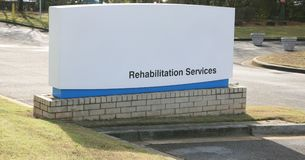 Rehab Services Center. Sign on an Rehab Center, Rehabilitation Centers provides men and women with substance abuse problems with the opportunity to regain their Stock Image