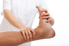 Rehabilitación del pie Imagen de archivo libre de regalías