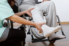 Rehabilitación discapacitada Fotografía de archivo libre de regalías