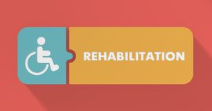 Rehabilitation Concept in Flat Design. Royalty Free Stock Photography