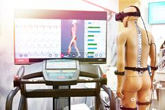 Rehabilitation device with virtual reality royalty free stock photography
