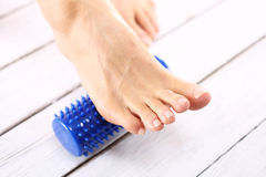 Rehabilitation feet, acupressure Stock Image