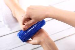 Rehabilitation foot massage Royalty Free Stock Photos