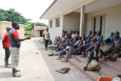 REHABILITATION OF FORMER FIGHTERS IN IVORY COAST (SARD) Stock Photos