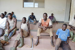 REHABILITATION OF FORMER FIGHTERS IN IVORY COAST (SARD) Stock Photo