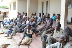 REHABILITATION OF FORMER FIGHTERS IN IVORY COAST (SARD) Stock Image