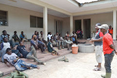 REHABILITATION OF FORMER FIGHTERS IN IVORY COAST (SARD) Royalty Free Stock Images