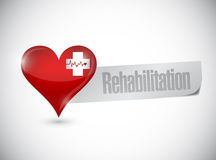 Rehabilitation heart sign illustration design Royalty Free Stock Photography