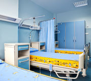 Rehabilitation hospital room. New and modern rehabilitation hospital chamber with beds Royalty Free Stock Photography