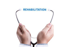 REHABILITATION  Modern rehabilitation physiotherapy  , REHABILIT Royalty Free Stock Photo