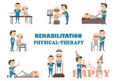Rehabilitation physical therapy Stock Image