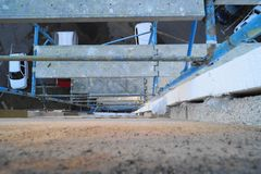 Rehabilitation and renovation of a housing block Royalty Free Stock Photo