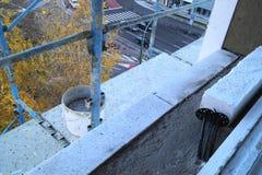 Rehabilitation and renovation of a housing block Stock Photography