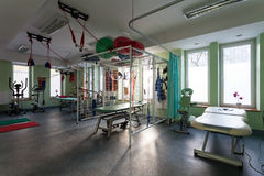 Rehabilitation room at physiotherapy clinic Stock Image