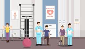 Rehabilitation of teenagers. Vector image. royalty free illustration
