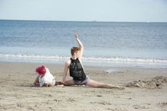 Rehearsal on the beach Stock Photos