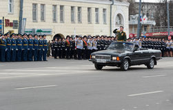 Rehearsal of Military Parade Stock Photos