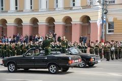Rehearsal of Military Parade Royalty Free Stock Photography