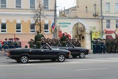 Rehearsal of Military Parade Stock Image