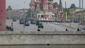 Rehearsal of military parade on Red Square Moscow, Russia. may, 07 2014 stock video footage