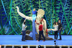 Rehearsal of the musical The Little Mermaid Royalty Free Stock Image
