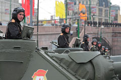 Rehearsal of parade of a victory Stock Photo