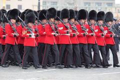 Rehearsal of parade of a victory Stock Image