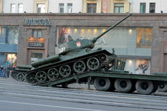 Rehearsal of parade of a victory in Moscow stock photography