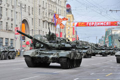 Rehearsal of parade of a victory in Moscow royalty free stock images