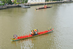 Rehearsal for Royal Barge Procession Royalty Free Stock Photography